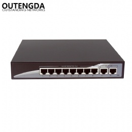 Gigabit 10 Port POE Switch 10/100/1000Mbps Poe Standard 802.3af/at Network Switch for IP Cameras and Wireless AP