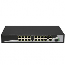 16 ports POE Switch with 16 POE Ports 2 Gigabit Uplink 1*1000Mbps SFP Power to IP Camera, Wireless AP, IP Phone