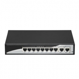 8+2 100Mbps PoE Switch Power 8 Ethernet Port 2 Uplink Port 2.0Gbps over Ethernet IEEE 802.3af at 150W for Camera Wireless AP